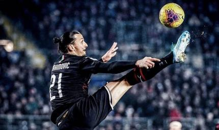 Забил и отпраздновал на коленях: Златан эффектно поставил точку в кубковом матче с Торино