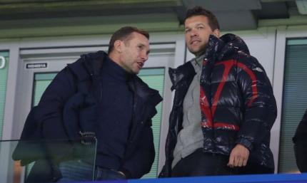 Шевченко с Баллаком посетили матч ЛЧ Челси - Бавария