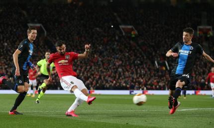 Лига Европы. Манчестер Юнайтед издевается над Брюгге