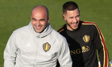 Бельгийцы объявили о продлении контракта с Мартинесом с помощью Азара, который играет в FIFA