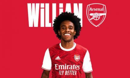Арсенал объявил о подписании Виллиана