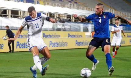 Лига Наций. Италия не переигрывает Боснию дома