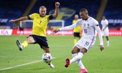 Лига Наций. Швеция - Франция 0:1. Скандинавы остановили всех, кроме Мбаппе
