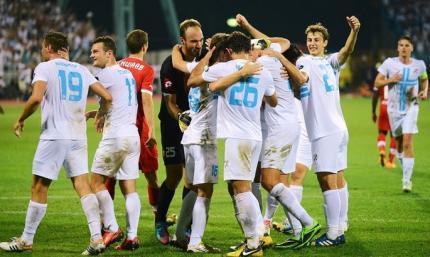 Риека 2:0 Колос, хорваты первые в заплыве благодаря португальцу и ошибке Волынца