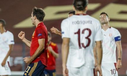 Лига наций. Испания - Швейцария 1:0. На чужом несчастье