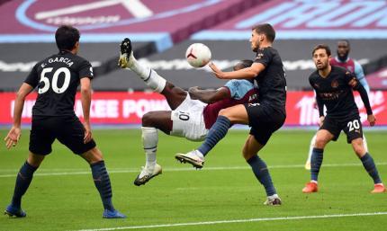 Українці вийшли, але на результат не вплинули. АПЛ. Вест Хем Юнайтед – Манчестер Сіті 1:1