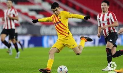 Ла Лига. 2-й тур. Атлетик 2:3 Барселона, хайкласс от Педри и Месси