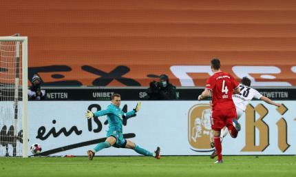Такое не часто увидишь. Боруссия М - Бавария 3:2. Видео голов и обзор матча