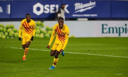 Барса –первый клуб Ла Лиги, за который забивало три 18-летних игрока за сезон