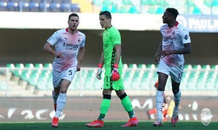 Резервисты в огне. Верона - Милан 0:2. Видео голов и обзор матча