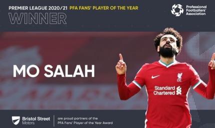 Болельщики выбрали Мохаммеда Салаха лучшим игроком Английской премьер-лиги