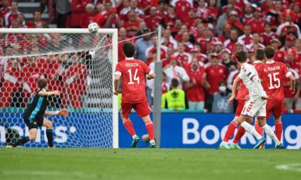 Классный удар Дамсгарда, ставший первым в ворота сборной России. Лучший гол 11-го дня Евро-2020