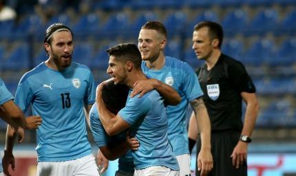 Манор Соломон идеально закрутил мяч в дальний угол в матче Израиль - Австрия