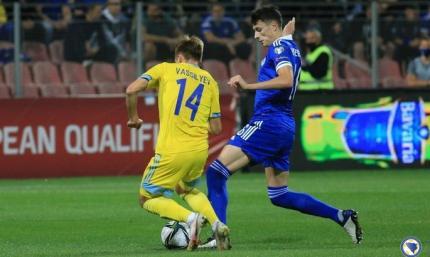 Конкурент Украины в отборе на ЧМ уверенно побеждает. Казахстан - Босния 0:2. Видео обзор матча