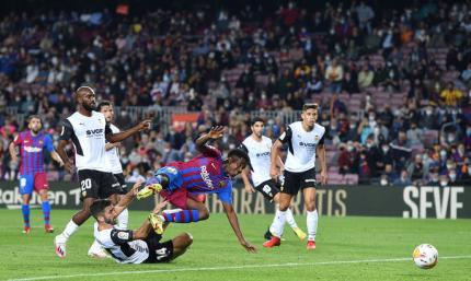 Примера. Барселона - Валенсия 3:1. Кулес показали характер перед Динамо