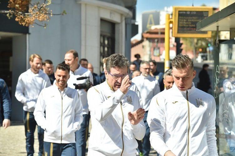 Сборная Украины прогулялась по Лиссабону и потренировалась на Да Луш - изображение 2