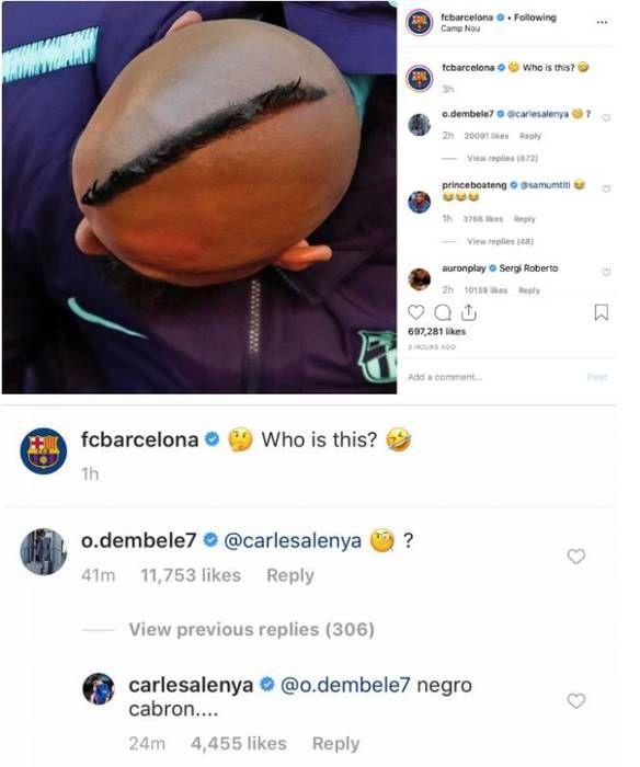 Гравця Барселони звинуватили у расизмі після коментаря в Instagram - изображение 1