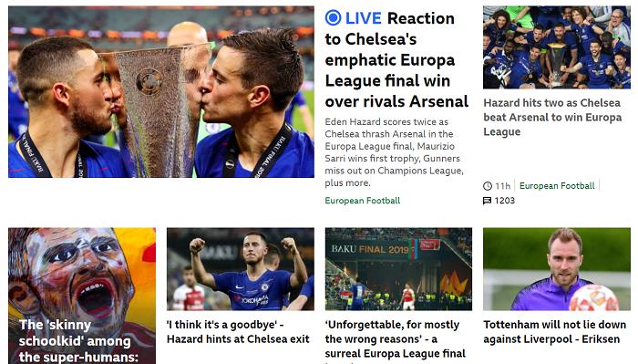 Челси - как мыльная опера, финал имени Азара. Реакция английских СМИ на финал Лиги Европы - изображение 1