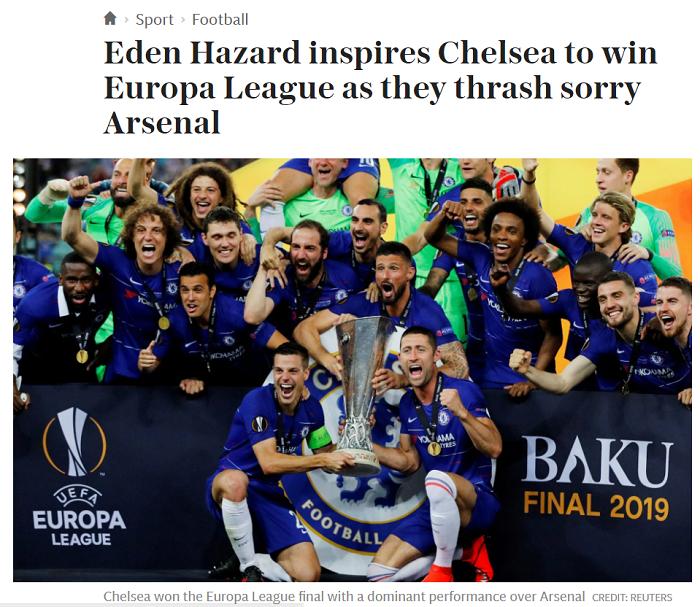 Челси - как мыльная опера, финал имени Азара. Реакция английских СМИ на финал Лиги Европы - изображение 2