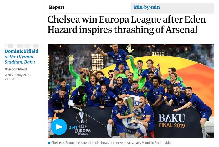Челси - как мыльная опера, финал имени Азара. Реакция английских СМИ на финал Лиги Европы - изображение 3