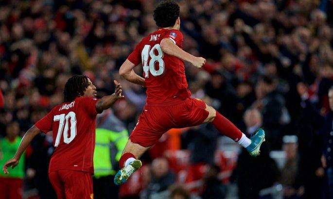 Невероятный победный гол 18-летнего хавбека Ливерпуля в ворота Эвертона в 1/32 финала Кубка Англии