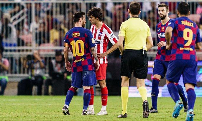 Стычка Месси и Феликса в Суперкубке Испании. Видео инцидента