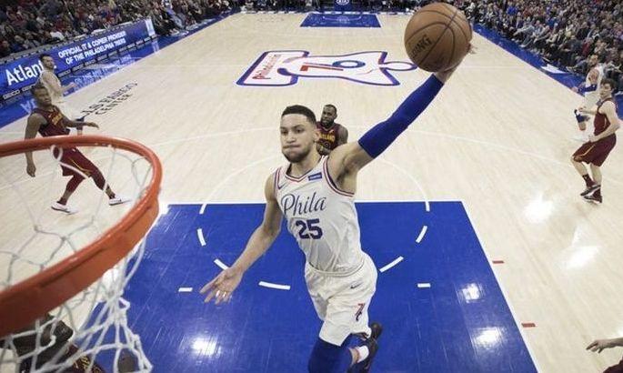 Атлетичный данк Симмонса – момент дня в НБА. ВИДЕО