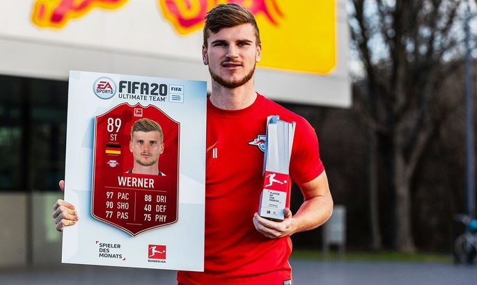 Второй раз подряд: Тимо Вернер - игрок месяца в Бундеслиге