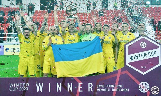 Ветеранская сборная Украины завоевала Кубок легенд