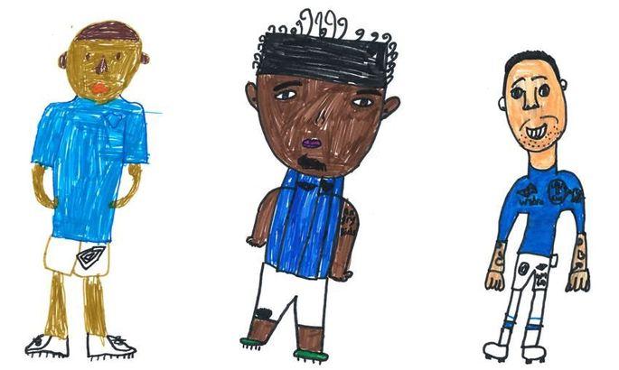 Пресс-служба Эвертона использовала детские рисунки вместо стандартных фотографий игроков