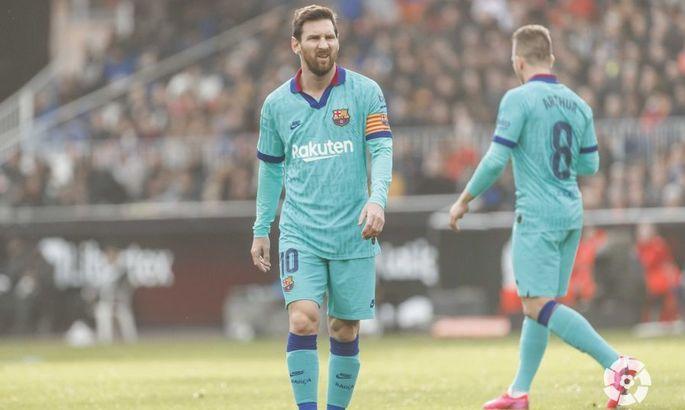 Примера. 21-й тур. Валенсия - Барселона 2:0. Ну зато тики-така