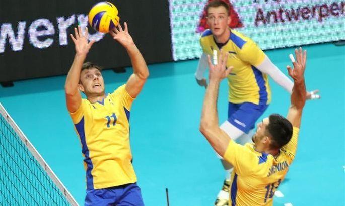 Мужская сборная Украины по волейболу дала бой олимпийским чемпионам