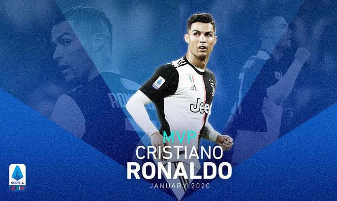 Завдяки чудовим показникам: Роналду – найкращий гравець Серії А в січні