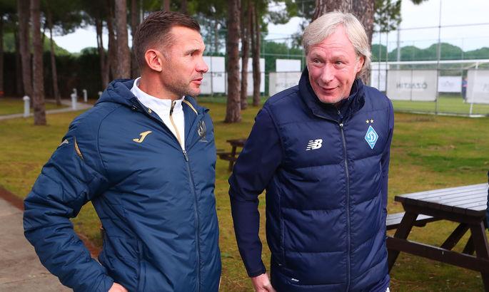 Андрей Шевченко посетил тренировку Динамо в Турции