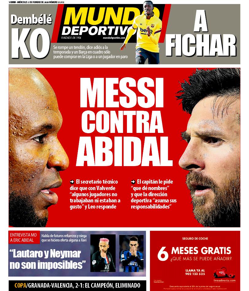 Криза в Барселоні. Мессі розкритикував спортивного директора Еріка Абідаля - фото 1