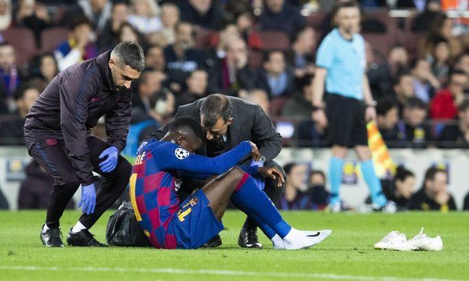 Дембеле отримав дев'яту травму за два з половиною роки в Барселоні. Всього він пропустив 65 матчів