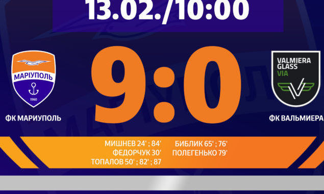 9:0. Мариуполь в спарринге разбил латвийскую команду