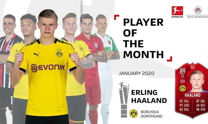 Холанд стал игроком месяца в Бундеслиге - в январе он провел лишь два матча