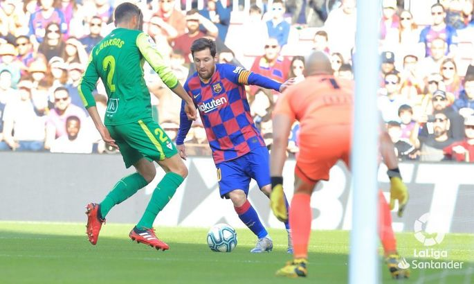 Примера. 25-й тур. Барселона - Эйбар 5:0. Месси против всех