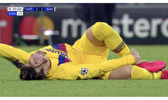 Піке отримав травму в поєдинку з Наполі та кульгав після гри – стало відомо, чи зіграє Жерар з Реалом