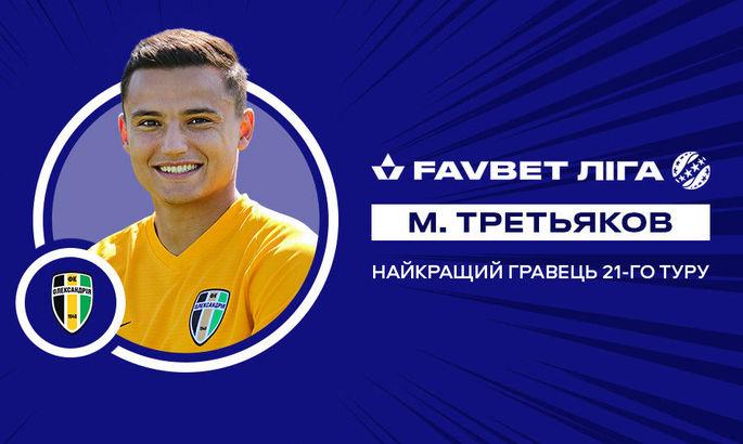 Найкращого гравця 21 туру в УПЛ обирали з-поміж футболістів Олександрії, Зорі й Шахтаря