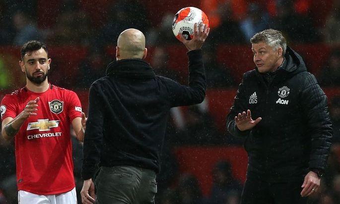 Під час дербі Манчестера Фернандеш жестом попросив Гвардіолу замовкнути. Схоже, винен Пеп