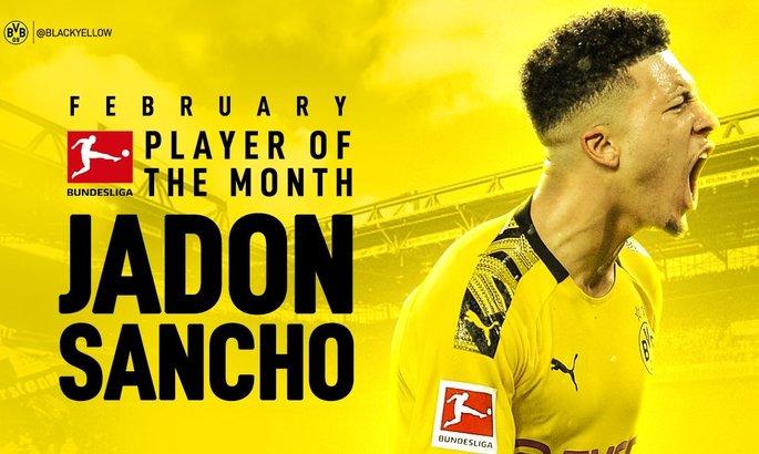 На этот раз не Холанд: Джейдон Санчо признан игроком месяца в Бундеслиге