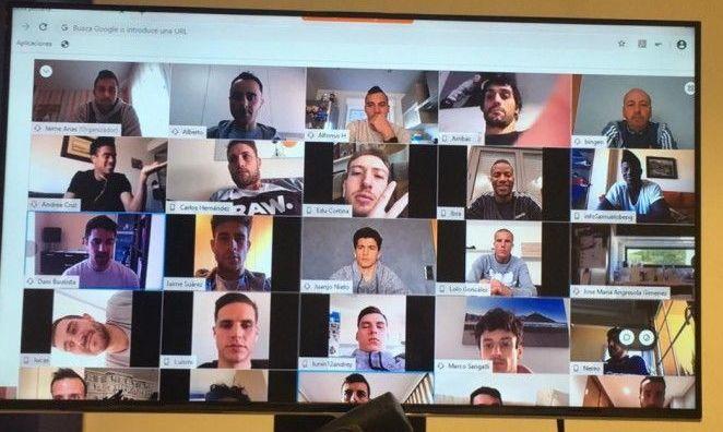 Команда Лунина устроила тренировку в режиме видеоконференции