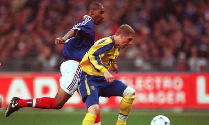 Украина играет с Францией в отборе на Евро-2000. Прямая видеотрансляция