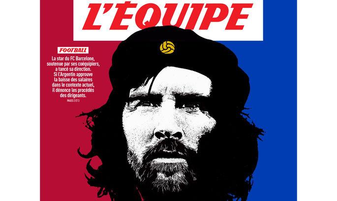 Французское издание L'Equipe поместило Месси на обложку в образе Че Гевары