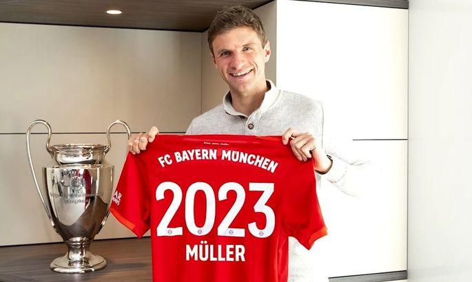 """""""Этот клуб – не просто работодатель. Это моя страсть"""". Мюллер официально продлил контракт с Баварией"""