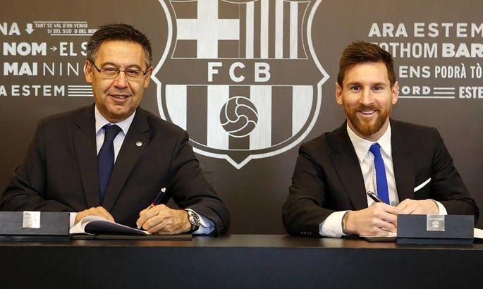 Барса заплатила 980 тысяч евро за улучшение имиджа президента клуба Бартомеу