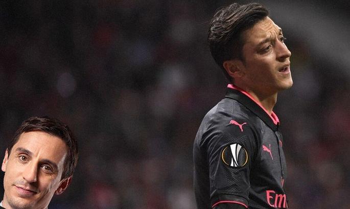 """""""Це рішення відірве Месута від роздягальні Арсеналу"""". Невілл – про відмову Озіла знизити зарплату"""