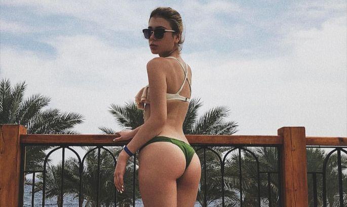 Денис Попов против фото его девушки в купальниках и она удалила их. Но интернет все запомнил. ФОТО